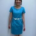 テレビ朝日の久富慶子アナが、ストフィーのワンピースを着て下さいました!夏らしい鮮やかなブルーに、付属の白ベルトが爽やかな印象です。久富アナにとてもお似合いです☆ ワンピース:33-11218(35番色) 16,800yen